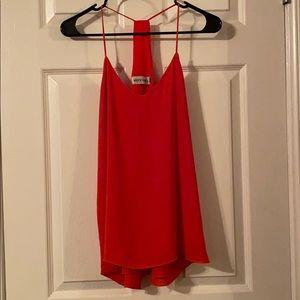 Veronica M. Racerback Cami in Bright Red